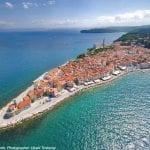 croatia tours piran aerial