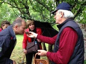 Truffle hunt in France