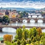 Vltava River Bridges Prague