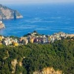 Aerial view of Corniglia, Cinque Terre, Italy