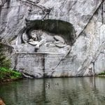 Lion Statue in Luzern, Switzerland
