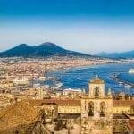 Naples Italy and Mount Vesuvius
