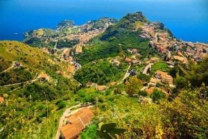 Aerial Taormina - tour of sicily