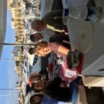 Dinner on board, our first night in Milazzo Harbor