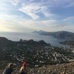 climbing to the top of Vulcano