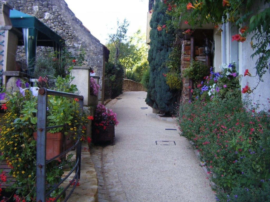 Village of Les Eyzies. Small group gourmet tours of France.