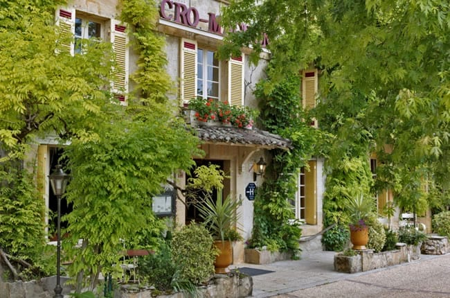 Hotel Cro-Magnon. Village of Les Eyzies. Small group gourmet tours of France.