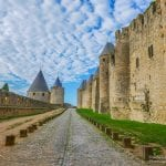 The concentric walls of the medieval City of Carcassonne guarding 2,500 years of history