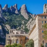 The spectacular mountain top Monastery of Montserrat and Black Madonna inside the Basilica