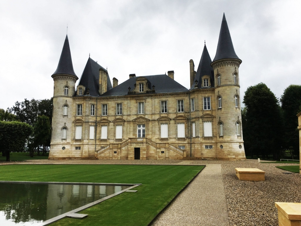 Pichon Longueville Chateau in Pauillac, the Haut Medoc wine region