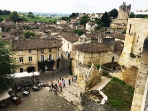 Saint Emilion's ancient center with its 12th century underground cathedral