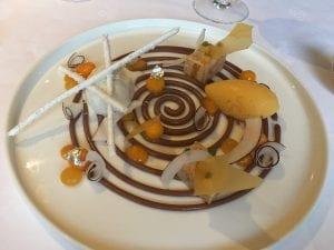 Dessert at Moulin de l'Abbaye