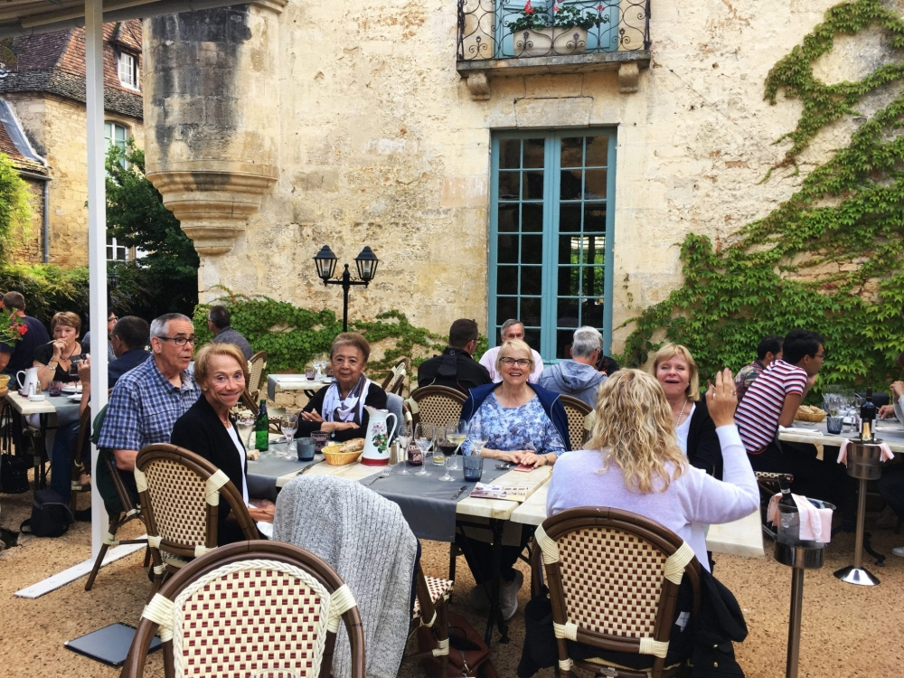 Dinner in medieval Sarlat