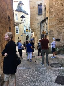 Exploring the car-free streets of Sarlat is a journey into the 14th century
