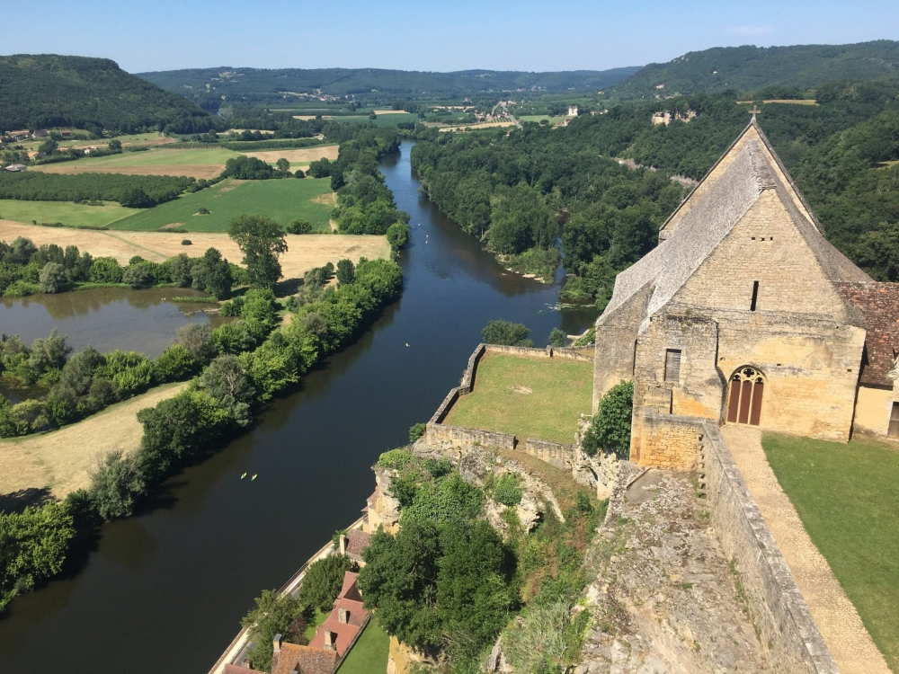 Looking down on the Dordogne River from Chateau de Beynac