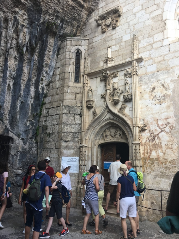Visiting the ancient chapels of Rocamadour