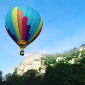 Have you ever taken a balloon ride floating above Rocamadour?