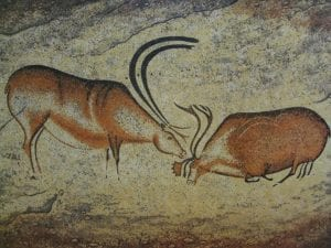 Prehistoric cave painting in Lascaux, near Les Eyzies
